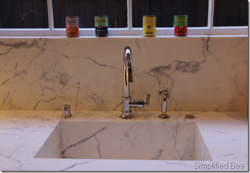 calacutta marble sink waterworks faucet