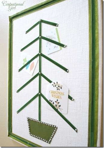 christmas tree ribbon card display board