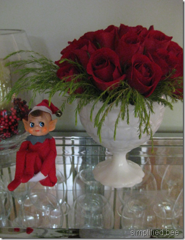 christmas red rose floral arrangement how to