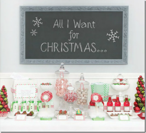 christmas candy bar green red fun