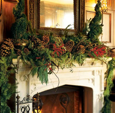 heres a collection of mantels decorated in a variety of styles for the christmas holiday from opulent to simple classic to rustic and monochromatic to - Rustic Elegant Christmas Decor