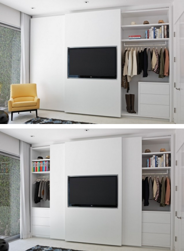 Closet Flat Screen Brilliance Simplified Bee