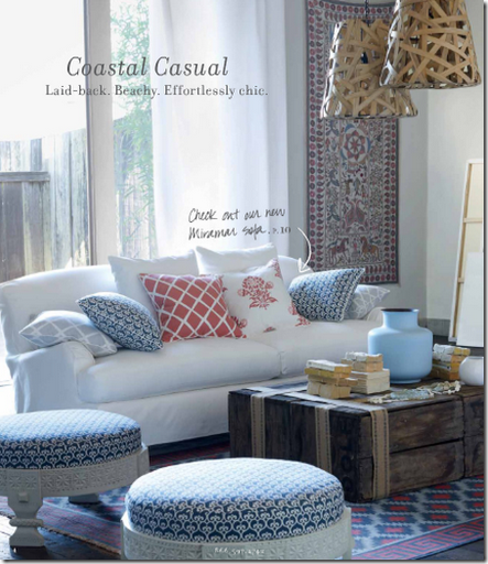 coastal casual design living room