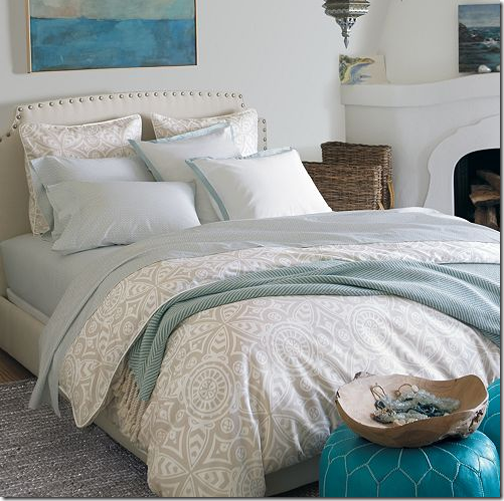 coastal chic bedroom design neutral blue