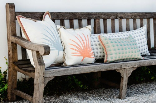 coastal fabrics and pillows