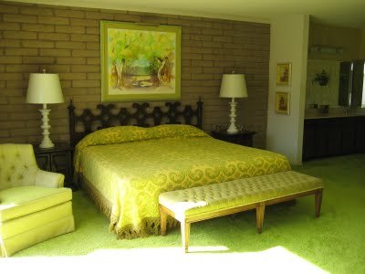 Fresh The guest bedroom had two lovely twin beds each with matching floral quilts I just loved the faux bamboo headboards in brushed lemon with white