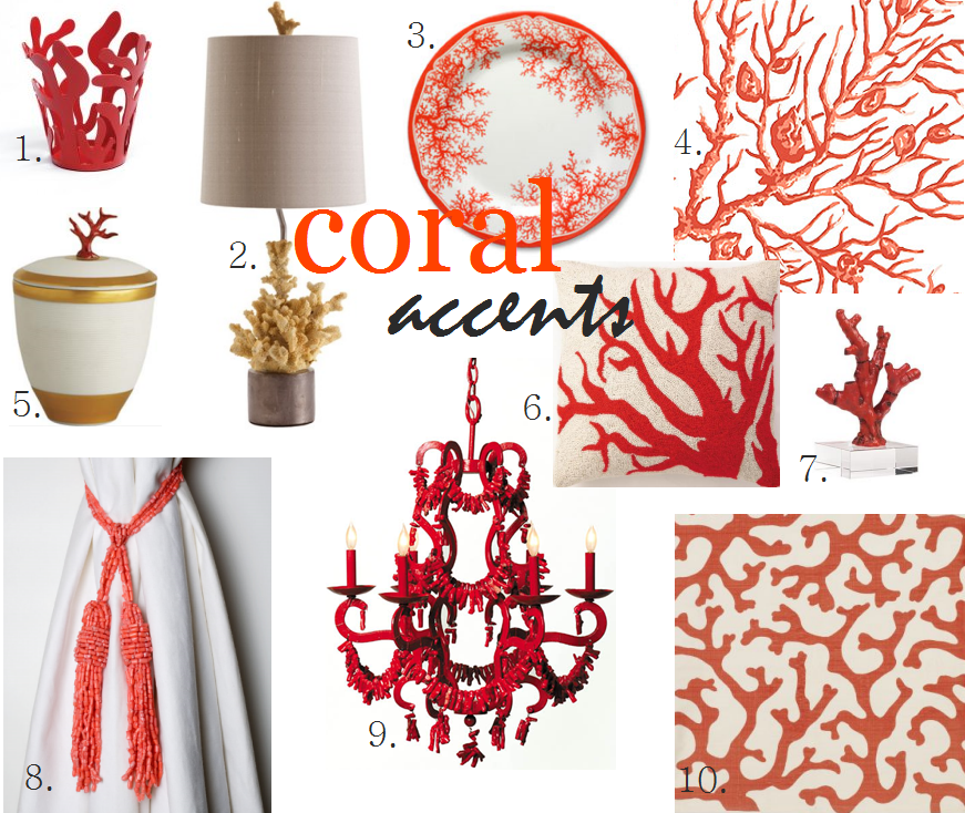 Friday Find Summer Decorating With Coral Accents on coastal decorations for the house