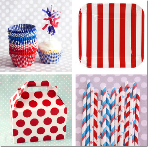 cute july 4th party supplies paper goods