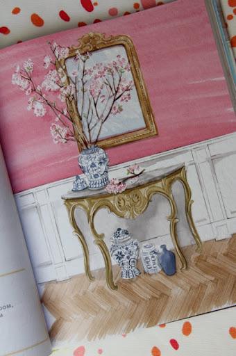 demilune chinoiserie illustration