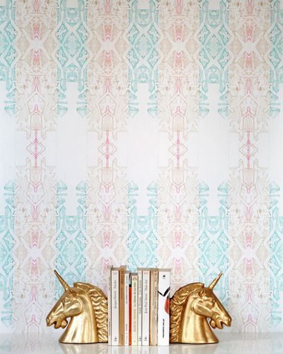 designer hand painted wallpaper