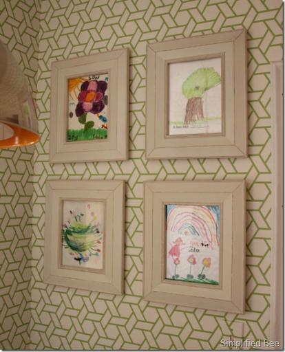 displaying kids art framed simple