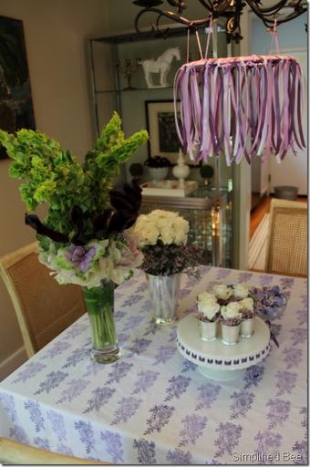 diy hand block paisley tablecloth purple lavender