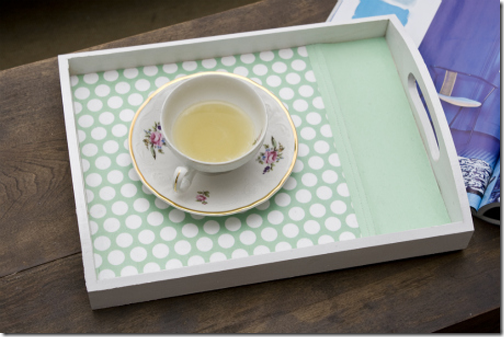 diy paper lined tray