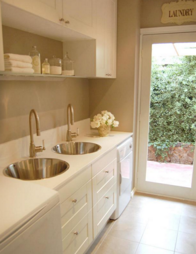 double sinks laundry room beautiful