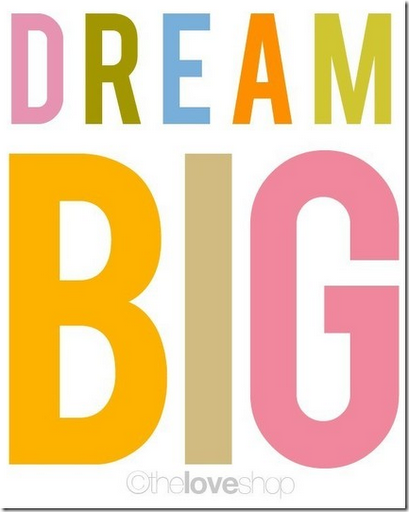 dream big poster colorful
