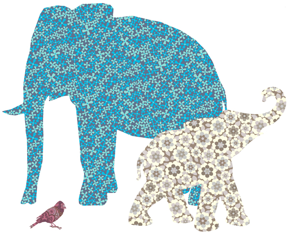 elephant wallpaper silhouette at romp white ceramic elephant side    Elephant Design Wallpaper