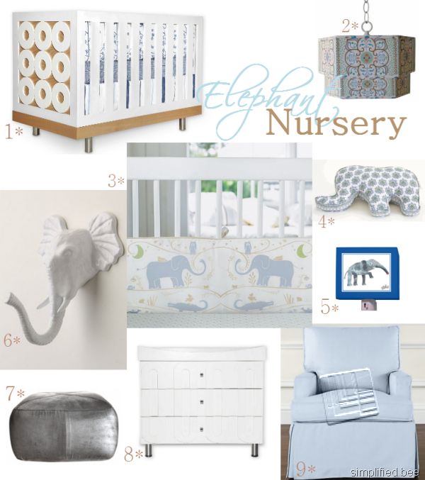 Elephant Nursery Room Boy Theme Designer