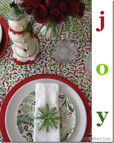 elf modern christmas table red green design