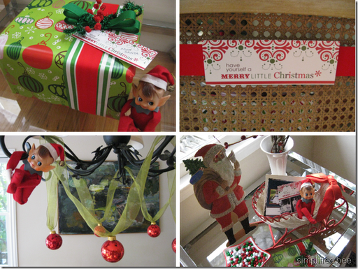 elf on shelf christmas table design ideas