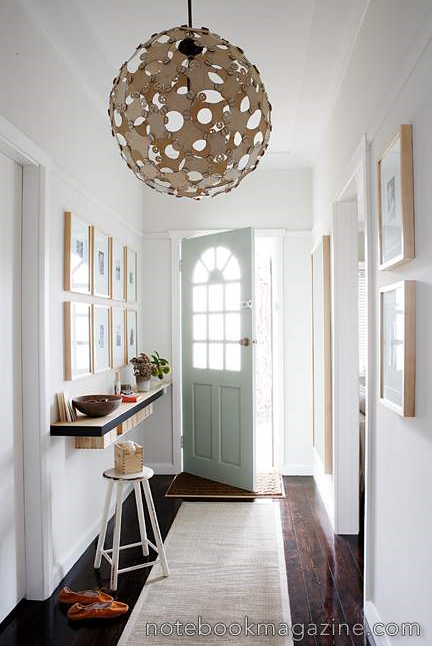 Narrow Foyer Lighting : Welcome home the beautifully organized entryway