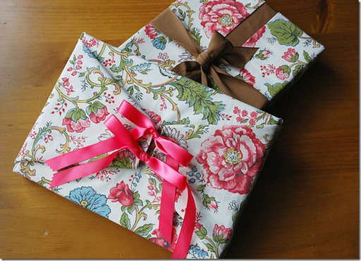 fabric reusable gift wrap how to