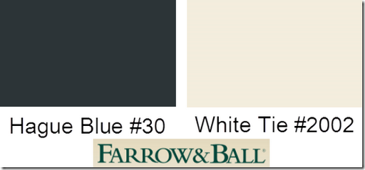 farrow and ball hague blue white tie