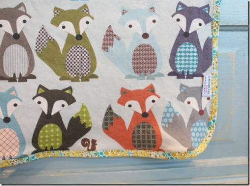 fox baby blanket crib