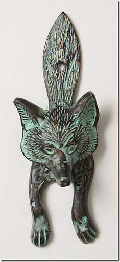 fox door knocker doorknocker