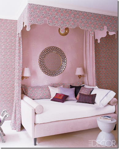 girls-bedroom-pink-canopy-katie-ridder-designer & Designer Rooms: Little Girlsu0027 Bedroom with Canopy Beds ...