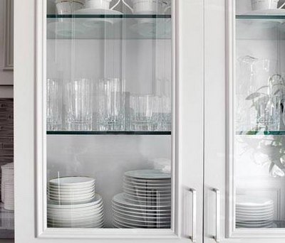 Glass Front Cabinets Provide An Open, Airy Feeling And Are Used To Display  Choice Tableware. They Are Great Incentives For You To Be Organized Because  Any ...