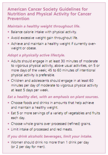 guidelines for breast cancer prevention