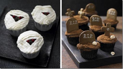 halloween gourmet cupcakes mummy tombstone lily vanilli