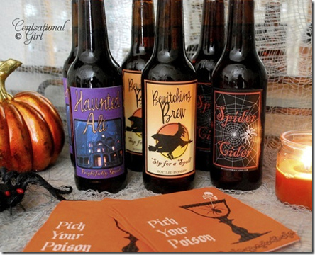 halloween party beer drink labels download