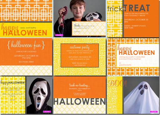 halloween party invite amy atlas cocodot yellow orange