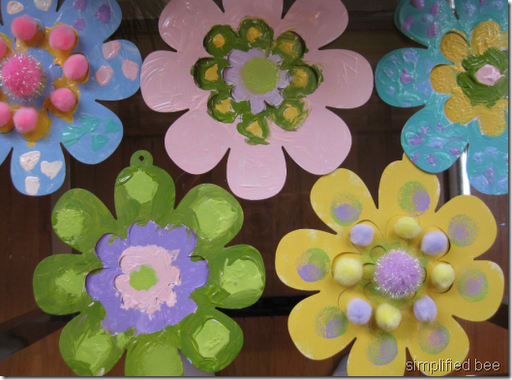 hand painted paper flowers kids