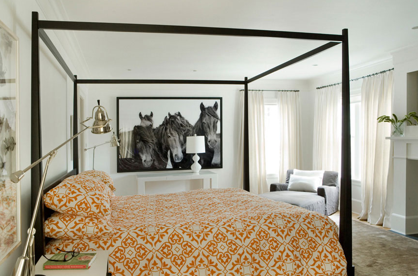 lane interiors captures a contemporary equestrian feel in this bedroom