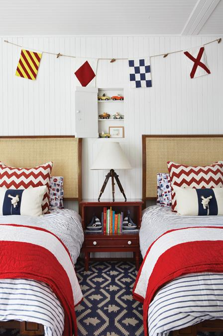 Darling boys 39 nautical bedroom design simplified bee for Bedroom ideas nautical