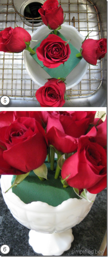 how to arrange flowers roses