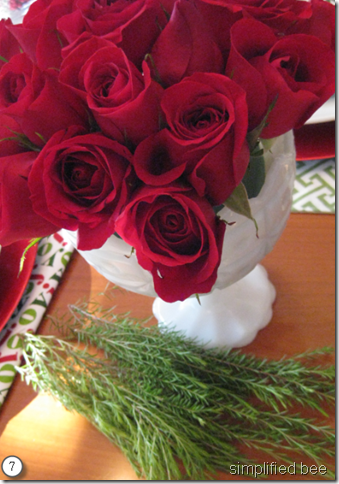 how to arrange roses step by step