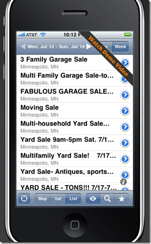 igaragesale yard sale app for iphone