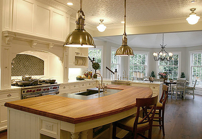 Here are some examples of great kitchen designs that have an island {or  two}: