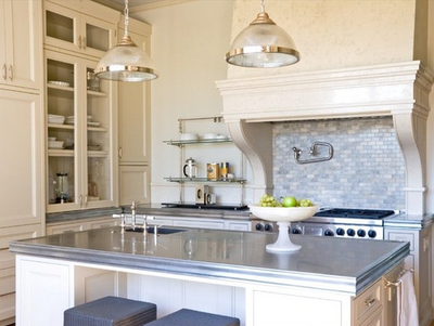 The island kitchen design trend here to stay for Kitchen zinc design