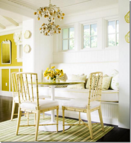 Epic kitchen nook yellow celerie kemble