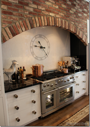 kitchen clock tile backsplash range designer