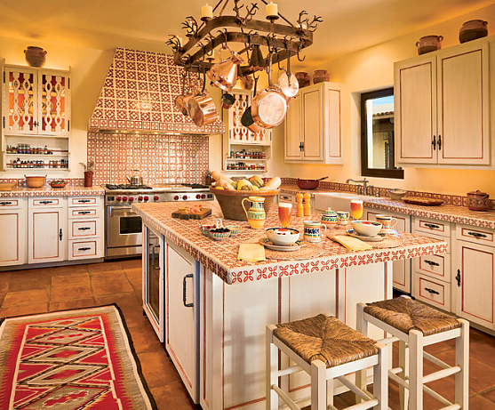 The island kitchen design trend here to stay for Modern mexican kitchen design