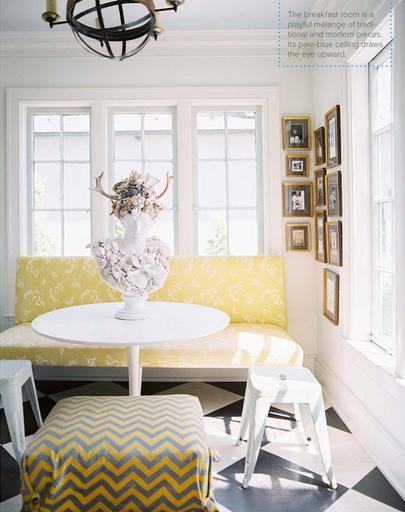 Kitchen banquette yellow white thumb25255b225255d