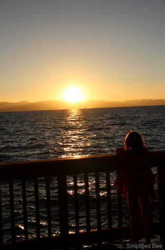 lake tahoe sunset summer