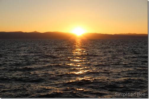 lake tahoe sunset east shore
