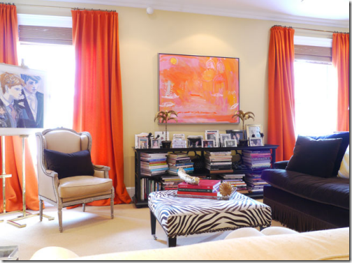 living room orange drapes amanda nisbet