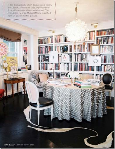 lonny library dining room designer